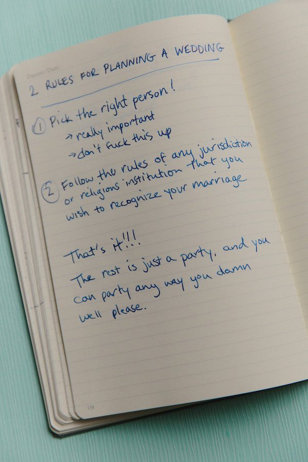 Confused by all the shoulds, shouldn'ts, musts, and must-haves when it comes to your wedding? Eff that noise. Let me tell you the only two rules you absolutely have to follow in order to plan your wedding the right way:
