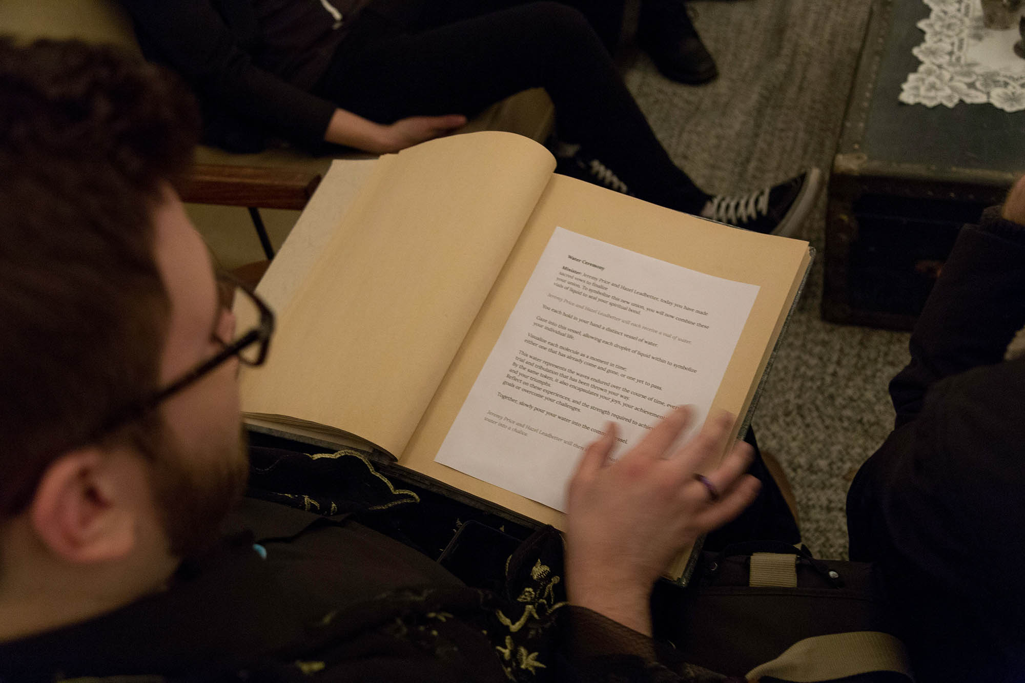 Officiant Reads Wedding Ceremony Script