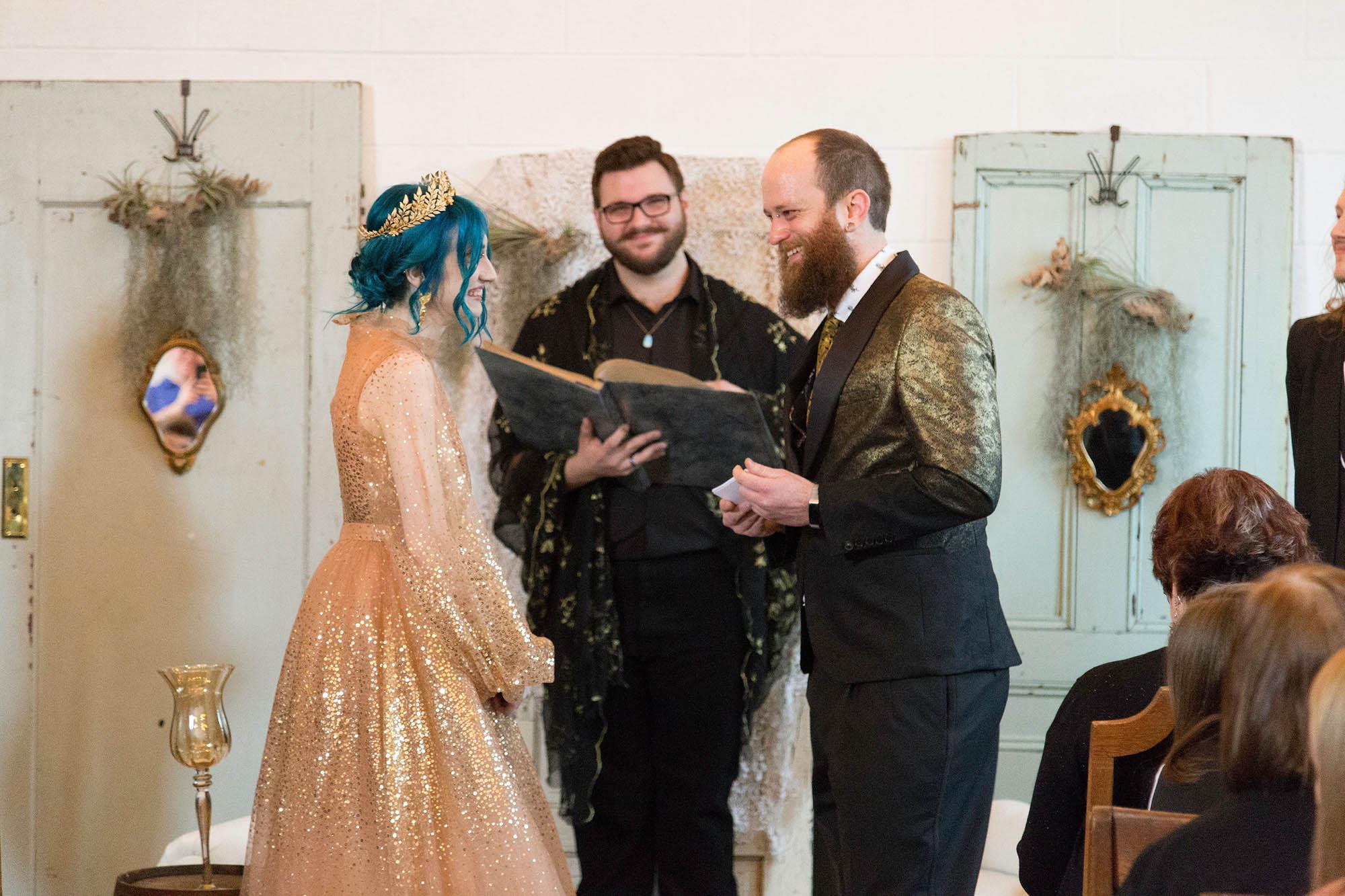 Vintage Boho Wedding Ceremony at Union Pine PDX