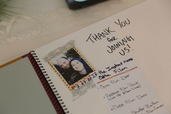 Wedding Guest Book with Polaroid Instax Instructions Union Pine PDX