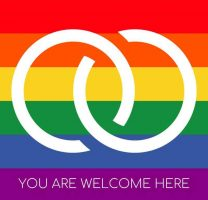LGBTQ You Are Welcome Here badge