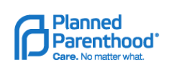 Planned Parenthood Federation of America logo. Blue text on white background reads