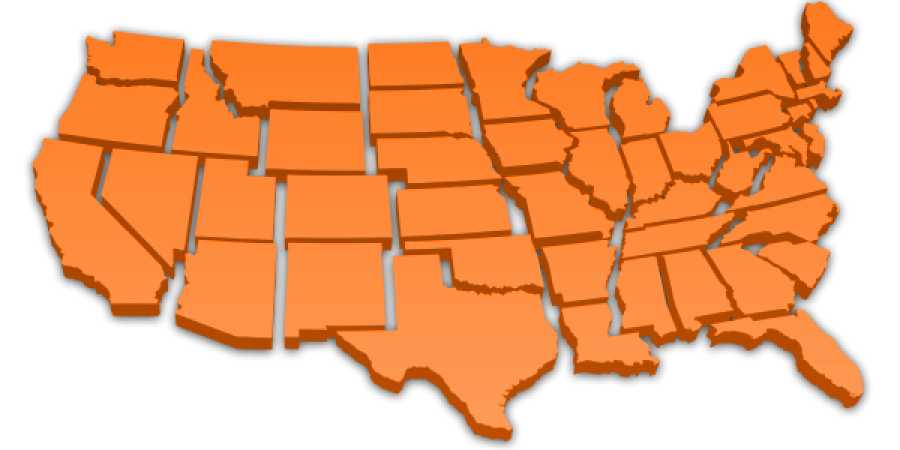 Continental United States, excluding Alaska & Hawaii